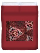Red Lines In Nature Duvet Cover