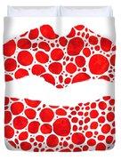 Red Lips Art - Big Kiss - Sharon Cummings Duvet Cover