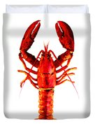 Red Lobster - Full Body Seafood Art Duvet Cover