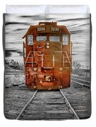 Red Locomotive Duvet Cover