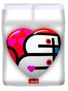 Red Love Heart Duvet Cover