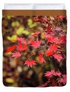 Red Maple Leaves Duvet Cover