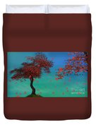 Red Maples Duvet Cover