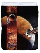 Red Mars Cover Painting Duvet Cover