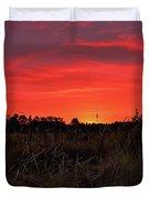 Red Marsh Sunrise Duvet Cover