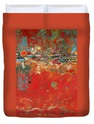 Red Meander Duvet Cover