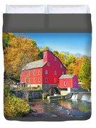 Red Mill Nj Fall Landscape Duvet Cover