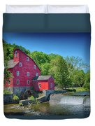 Red Mill Of Clinton New Jersey Duvet Cover