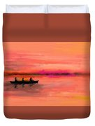 Red Morning Spin Duvet Cover