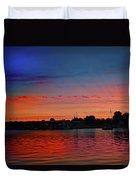 Red Morning Sun  Duvet Cover