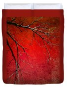 Red Morning Duvet Cover