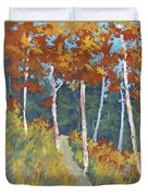 Red Mountain Aspens Duvet Cover by David King