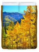 Red Mountain Aspens Duvet Cover