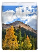 Red Mountain Fall Colors Duvet Cover