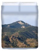 Red Mountain In The Foothills Of Pikes Peak Colorado Duvet Cover