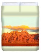 Red Mountain Sunset Organs Duvet Cover
