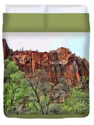 Red Mountains Zion National Park Usa Duvet Cover