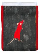 Red Mouse Duvet Cover