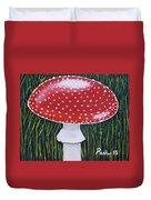 Red Mushroom Duvet Cover