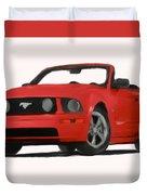 Red Mustang Duvet Cover