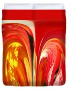 Red N Yellow Flowers 4 Duvet Cover