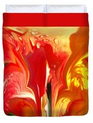 Red N Yellow Flowers 5 Duvet Cover