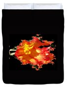 Red N Yellow Flowers Duvet Cover