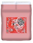 Red Nebula Duvet Cover