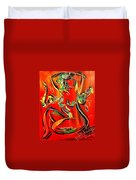 Red Nude Duvet Cover