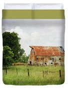 Red Oak Barn Duvet Cover