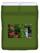 Red Oleander Arbor Duvet Cover