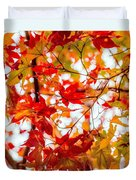Red On A Tree Duvet Cover