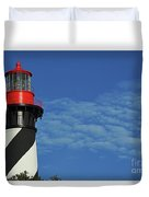 Red On Blue Skies Duvet Cover