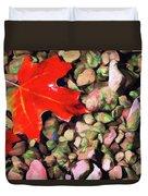 Red On The Rocks Duvet Cover