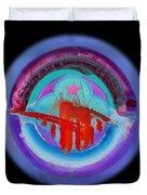 Red On Violet Duvet Cover