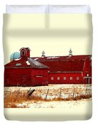 Red One And Two Duvet Cover