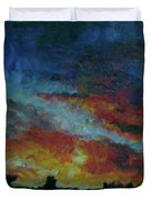 Red Orange Evening Duvet Cover