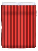 Red Orange Striped Pattern Design Duvet Cover