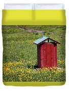 Red Outhouse 3 Duvet Cover