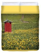 Red Outhouse 6 Duvet Cover