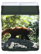 Red Panda In A Tree Duvet Cover