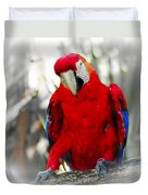 Red Parrot Duvet Cover