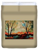 Red Tree Path Duvet Cover