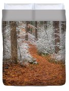 Red Path Duvet Cover