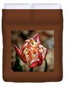 Red Peony Tulip Duvet Cover