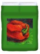 Red Pepper Still Life Duvet Cover