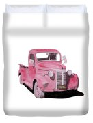 Red Pickup Saturday Night Duvet Cover