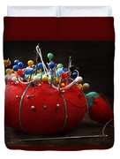 Red Pin Cushion Duvet Cover