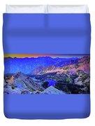 Red Pine Panorama Duvet Cover