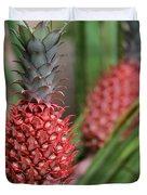 Red Pineapples Duvet Cover